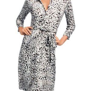 CAbi #822 animal print shirt dress